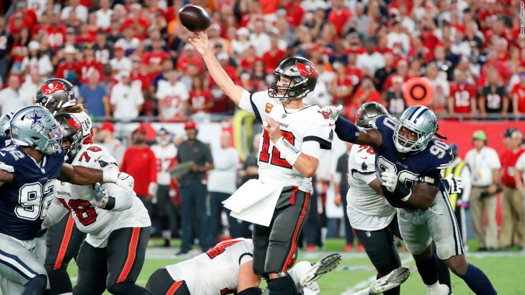 Tom Brady and the Tampa Bay Buccaneers beat the Dallas Cowboys