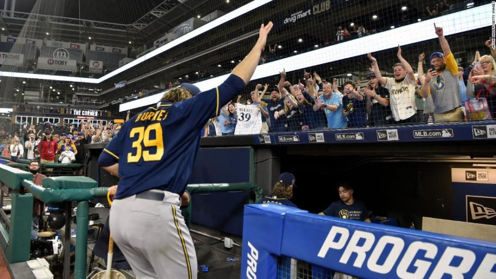 Baseball record: 2 Milwaukee Brewers combine to throw MLB's record 9th no-hitter this season