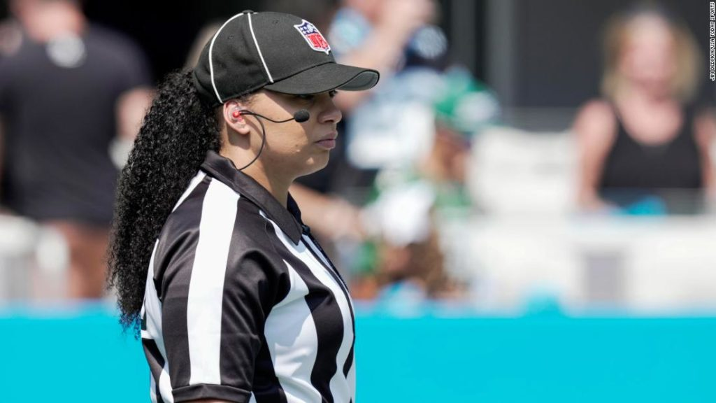 NFL's Maia Chaka makes history as first Black woman to officiate an NFL game
