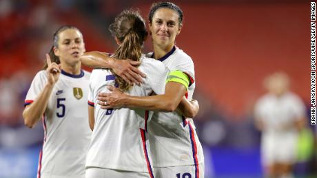 Lloyd has historically joined her US teammates in their fight for equal pay.