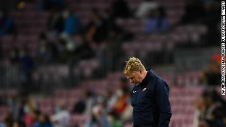 Ronald Koeman looked dejected at full time.