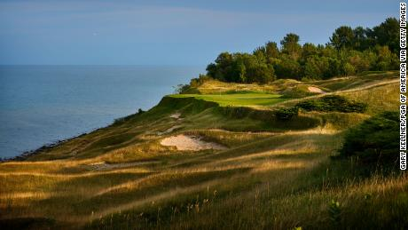 A view from 17th hole of Whistling Straits Golf Course.