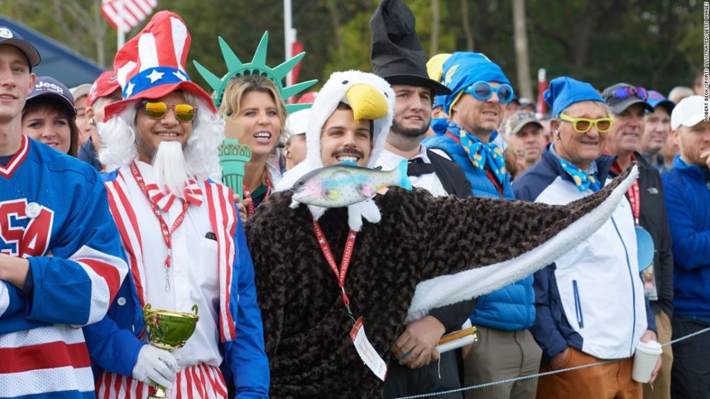 The weird and wonderful outfits of fans at the Ryder Cup