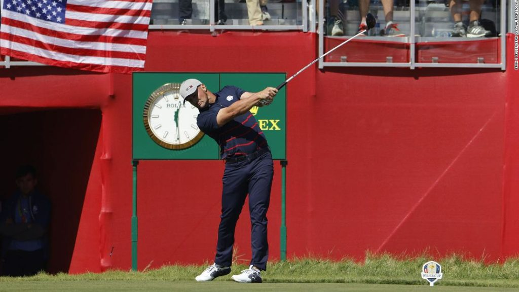 Bryson DeChambeau hits fan with first monster drive of Ryder Cup, recovers for birdie