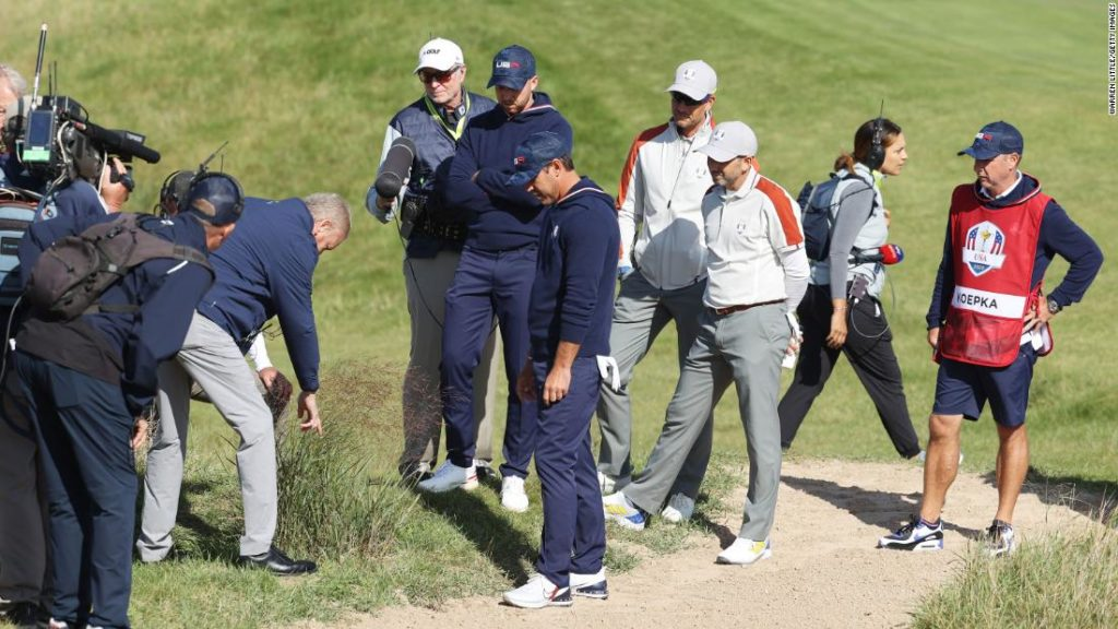 Brooks Koepka and Daniel Berger argue with officials in drop controversy at Ryder Cup