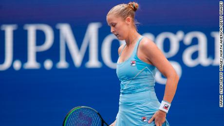 Shelby Rogers won just three games in her defeat to Emma Raducanu.
