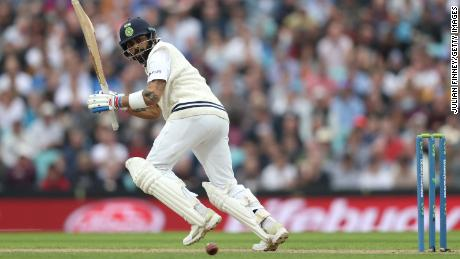 Kohli bats during day three of the fourth Test match between England and India.